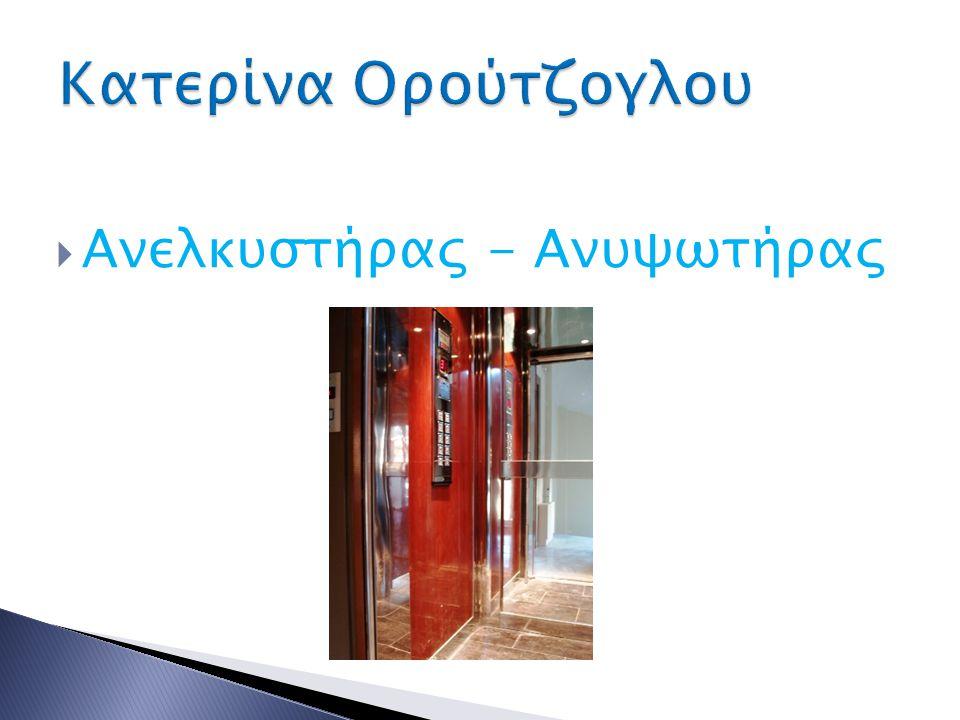 Ανελκυστήρας - Ανυψωτήρας