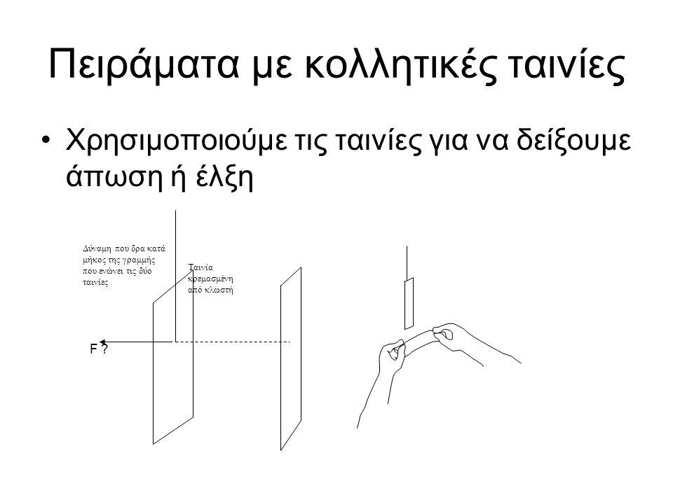Ένα σώμα κινείται από ένα σημείο Α σε ένα σημείο Β ενώ πάνω του ασκούνται δύο σταθερές δυνάμεις, και, ανίσων μέτρων Σημείο Β Σημείο Α Το ολικό έργο που παράγει στο αντικείμενο η είναι θετικό, αρνητικό, ή μηδέν; Το ολικό έργο που παράγεται στο αντικείμενο (το έργο που παράγει η ολική δύναμη ) είναι θετικό, αρνητικό, ή μηδέν; Είναι το μέτρο της ταχύτητας του αντικειμένου στο σημείο Β μεγαλύτερο από μικρότερο από, ίσο με, το μέτρο της ταχύτητας του αντικειμένου στο σημείο Α; Εξήγησε πώς μπορείς να το καταλάβεις.