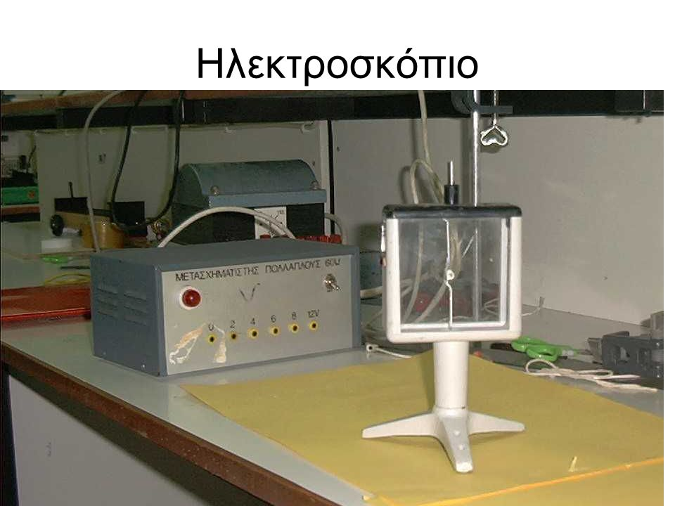 Προβολή πειράματος ηλεκτροσκοπίου