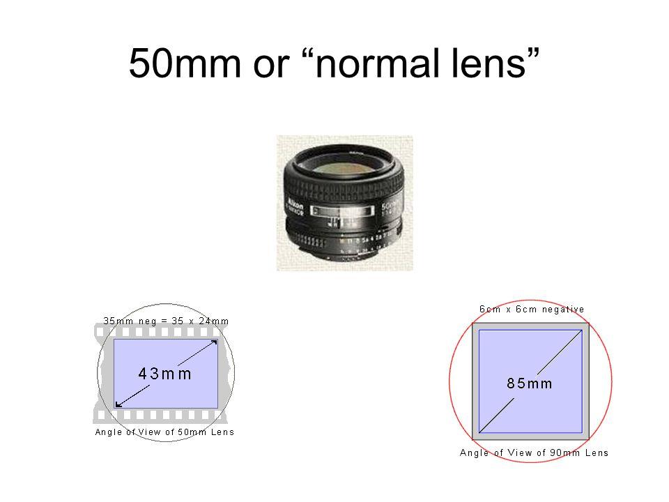 "50mm or ""normal lens"""