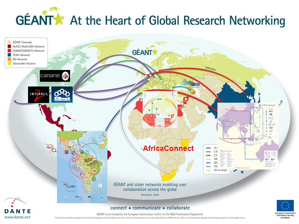 GÉANT global connectivity GÉANT2 global connectivity – February 2009 AfricaConnect