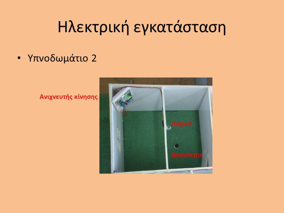 Ηλεκτρική εγκατάσταση Υπνοδωμάτιο 2 Ανιχνευτής κίνησης Διακόπτης Λυχνία