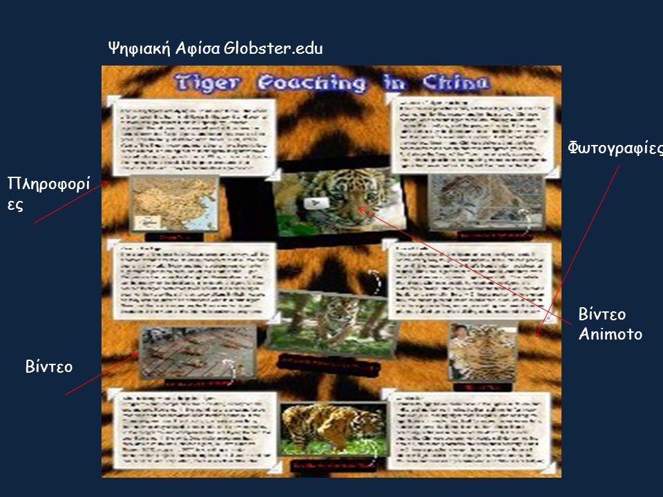 Ψηφιακή Αφίσα Globster.edu Βίντεο Πληροφορί ες Φωτογραφίες Βίντεο Animoto