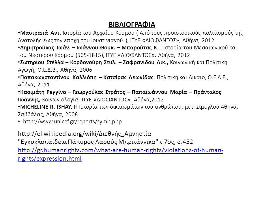ΒΙΒΛΙΟΓΡΑΦΙΑ Μαστραπά Αντ. Ιστορία του Αρχαίου Κόσμου ( Από τους προϊστορικούς πολιτισμούς της Ανατολής έως την εποχή του Ιουστινιανού ), ΙΤΥΕ «ΔΙΟΦΑΝ