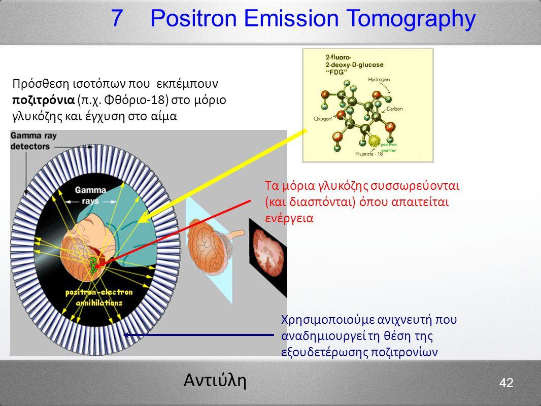 Αντιύλη 42 Πρόσθεση ισοτόπων που εκπέμπουν ποζιτρόνια (π.χ.