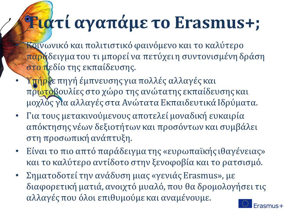 Γιατί αγαπάμε το Erasmus+; Κοινωνικό και πολιτιστικό φαινόμενο και το καλύτερο παράδειγμα του τι μπορεί να πετύχει η συντονισμένη δράση στο πεδίο της εκπαίδευσης.