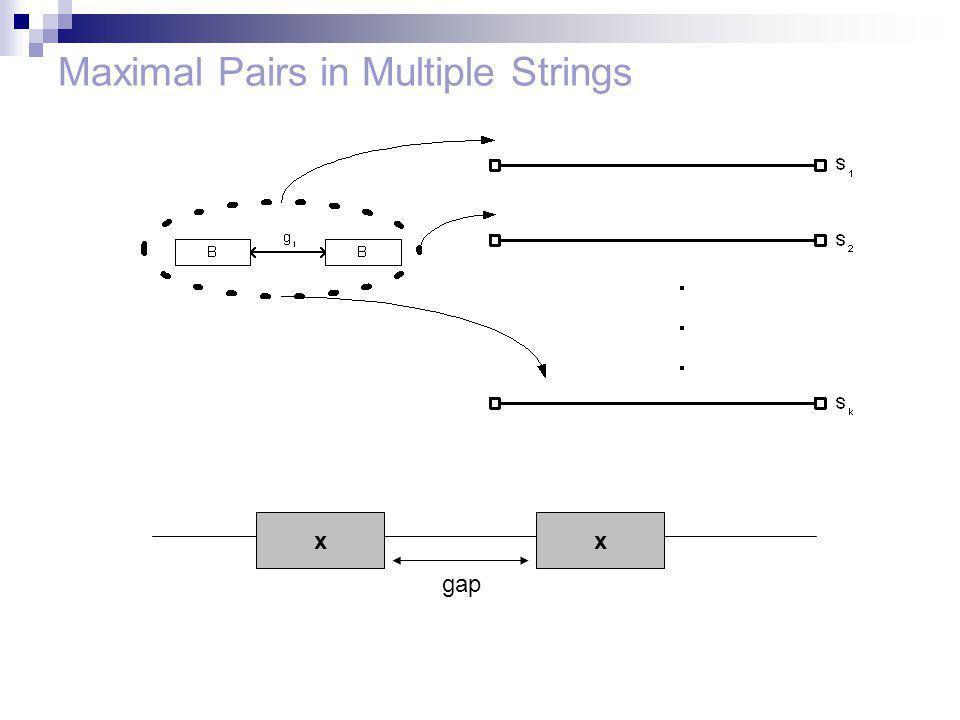 Maximal Pairs in Multiple Strings xx gap
