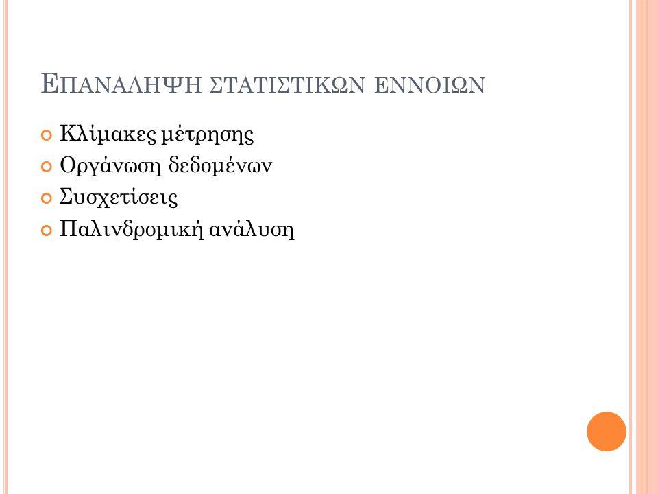 29 Παλινδρομική ανάλυση R EGRESSION Πως επηρεάζει το φύλο και το ΚΟΕ τις επιδόσεις των Κυπρίων φοιτητών στο πανεπιστήμιο;