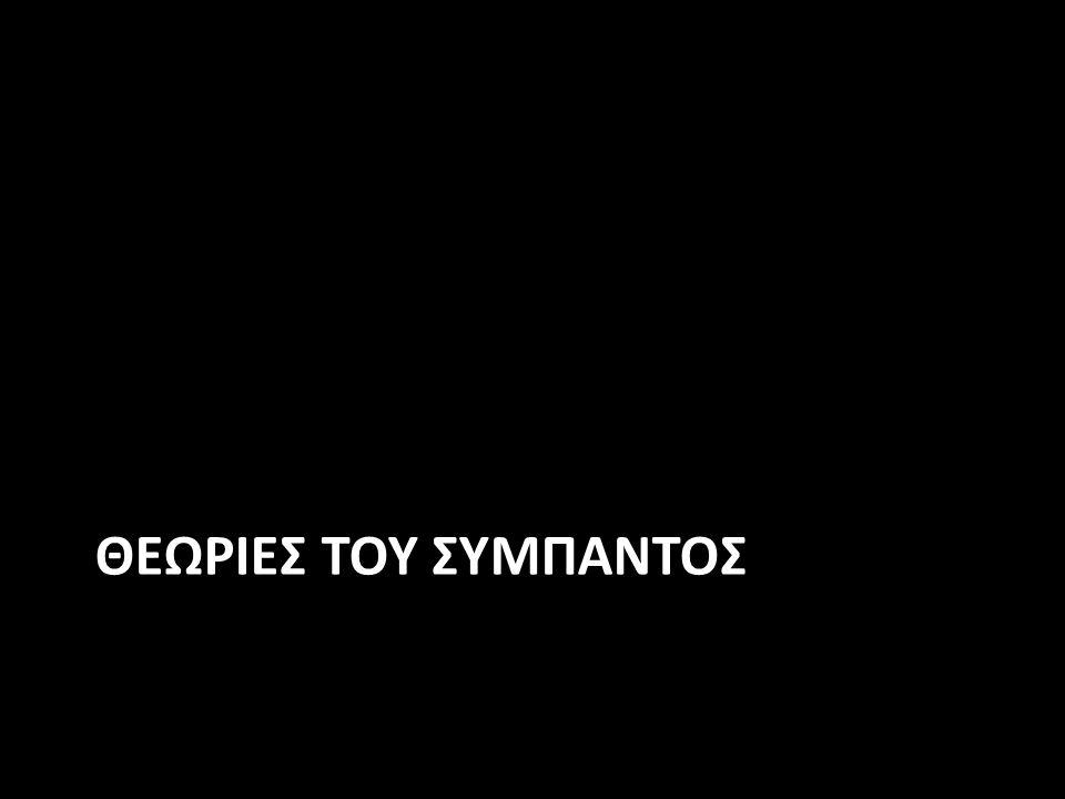 ΘΕΩΡΙΕΣ ΤΟΥ ΣΥΜΠΑΝΤΟΣ