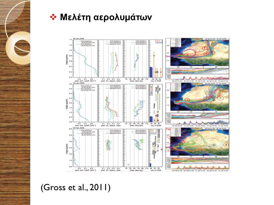 (Gross et al., 2011)  Μελέτη αερολυμάτων