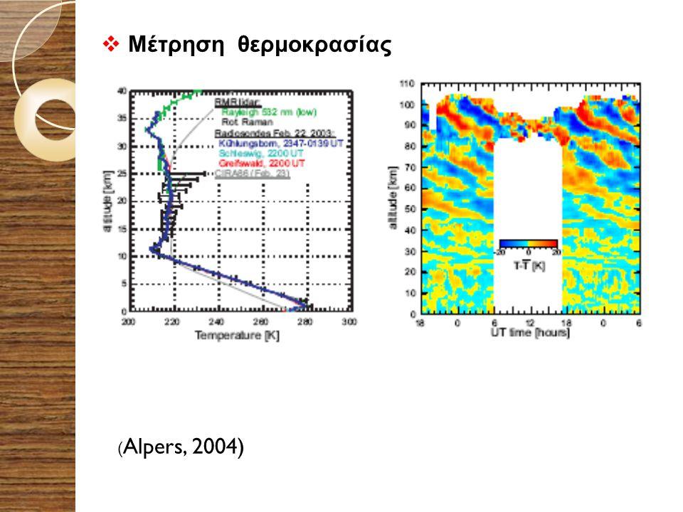  Μέτρηση θερμοκρασίας ( Alpers, 2004)