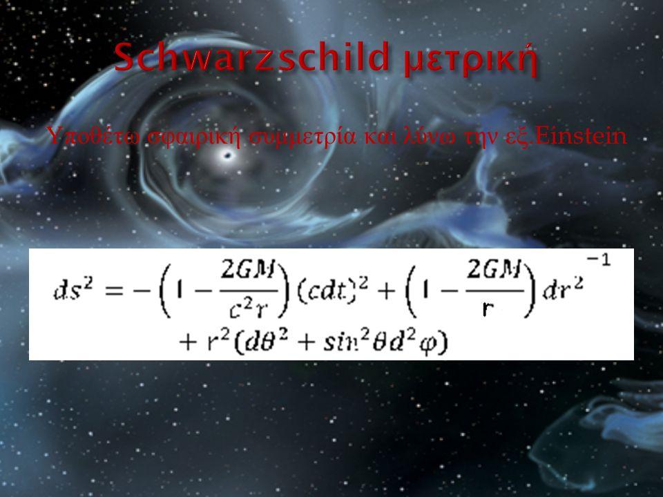 Υποθέτω σφαιρική συμμετρία και λύνω την εξ.Einstein