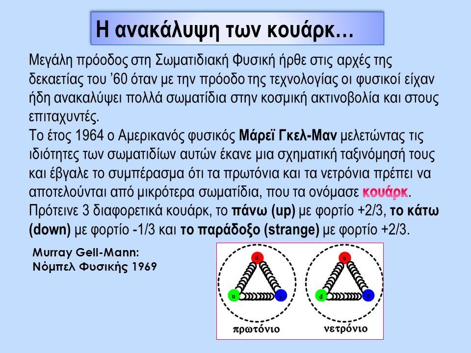 Η ανακάλυψη των κουάρκ… Murray Gell-Mann: Νόμπελ Φυσικής 1969