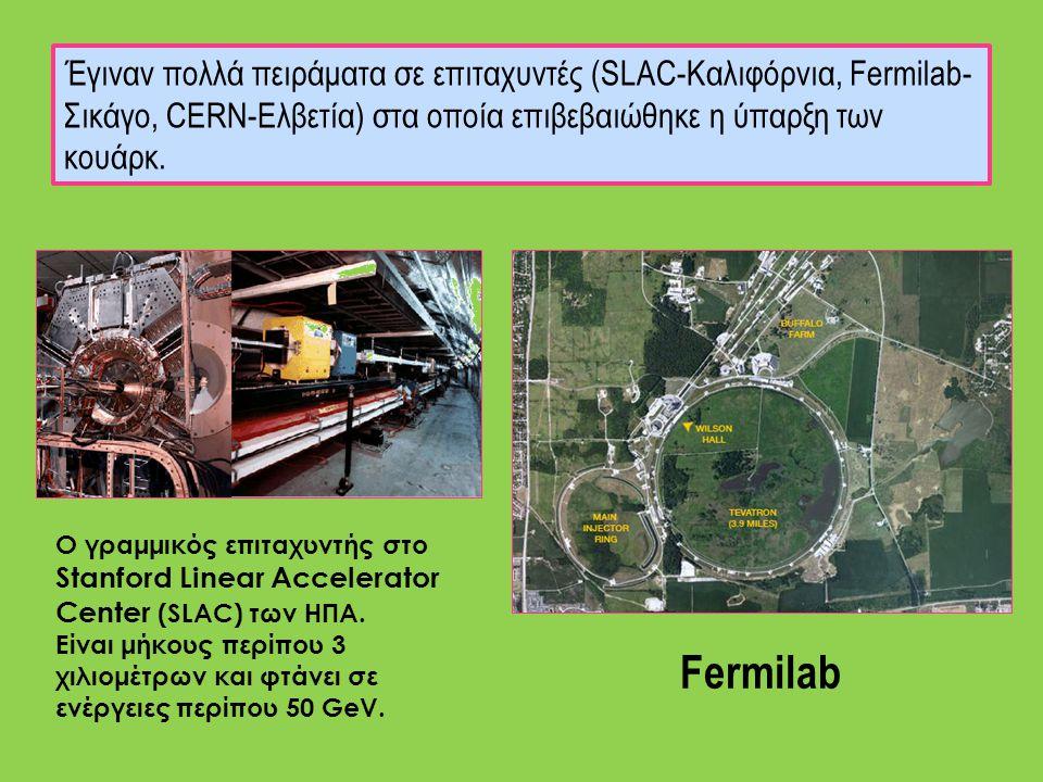Ο γραμμικός επιταχυντής στο Stanford Linear Accelerator Center (SLAC) των ΗΠΑ. Είναι μήκους περίπου 3 χιλιομέτρων και φτάνει σε ενέργειες περίπου 50 G