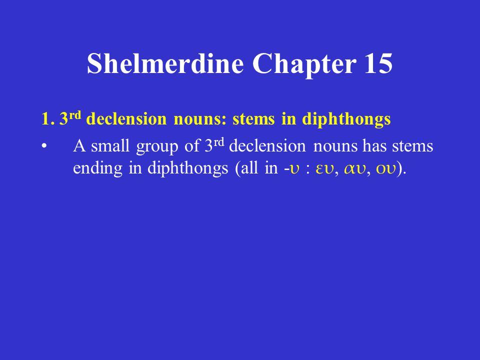 Shelmerdine Chapter 15 ACTIVE singular λύω (I loose) λύεις (you loose) λύει (s/he, it looses) plural λύομεν (we loose) λύετε (you, y'all loose) λύουσι (they loose) PASSIVE singular λύομαι (I am loosed) λύῃ/λύει (you are loosed) λύεται (s/he, it is loosed) plural λυόμεθα (we are loosed) λύεσθε (y'all are loosed) λύονται (they are loosed) present tense λύεσαι = λύ+ε+(σ)+αι  λύῃ or λύει