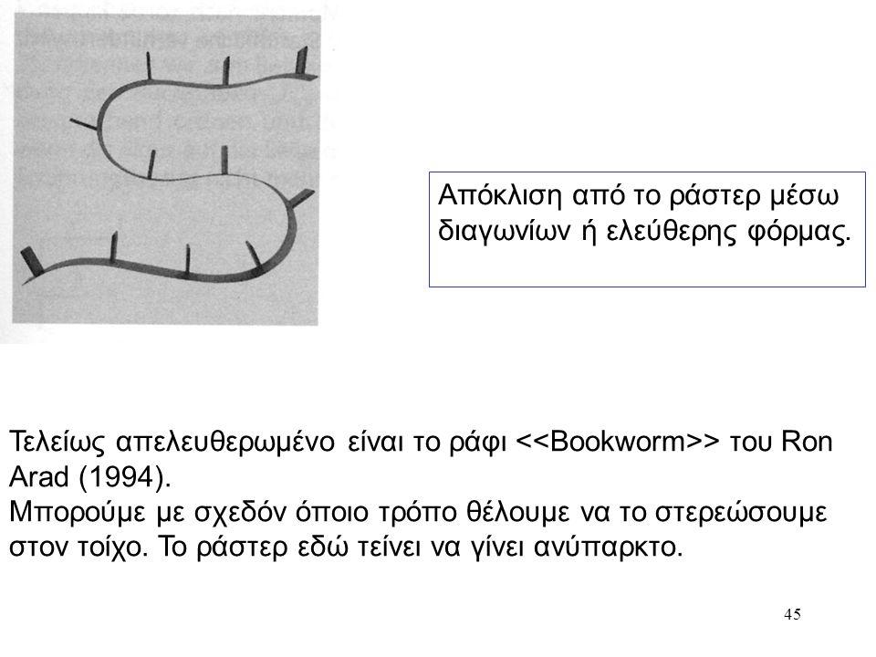 46 Σε ισορροπία Η κωνοειδής μορφή του τσαγερού τού Μichael Graves (1985) πατάει σε φαρδιά βάση που στενεύει προς τα επάνω.