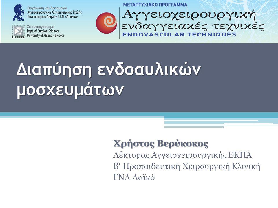Μηχανισμός διαπύησης ενδοαυλικού μοσχεύματος I.Δευτεροπαθής επιμόλυνση (Secondary contamination) II.Τοποθέτηση ενδομοσχεύματος σε διαπυημένη αορτή Ακούσια Εσκεμμένη