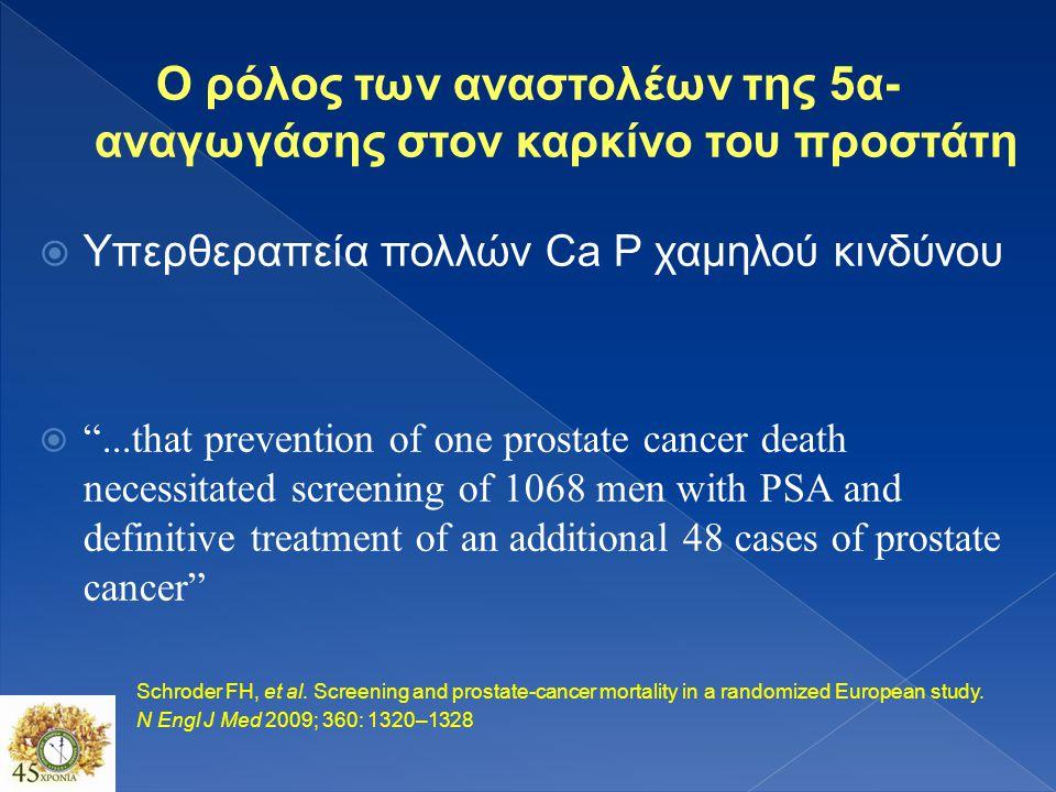 Πρόληψη  Πρωτοβάθμια μείωση συχνότητας εμφάνισης Ca προστάτη  Τριτοβάθμια αναστολή της προόδου ή της υποτροπής της νόσου