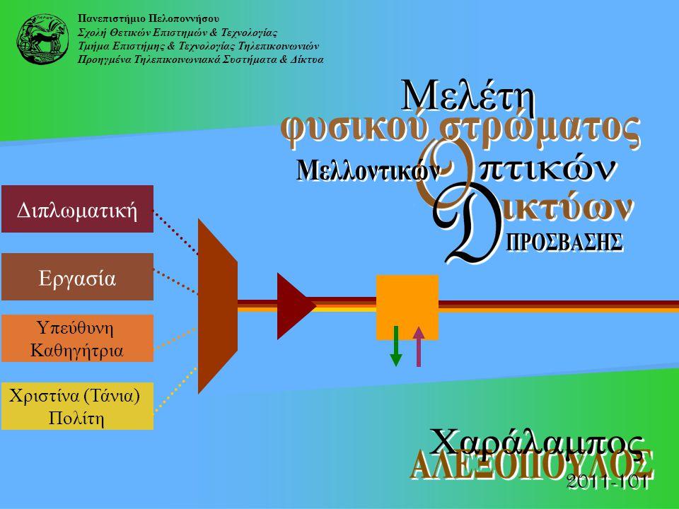 Πανεπιστήμιο Πελοποννήσου Σχολή Θετικών Επιστημών & Τεχνολογίας Τμήμα Επιστήμης & Τεχνολογίας Τηλεπικοινωνιών Προηγμένα Τηλεπικοινωνιακά Συστήματα & Δ