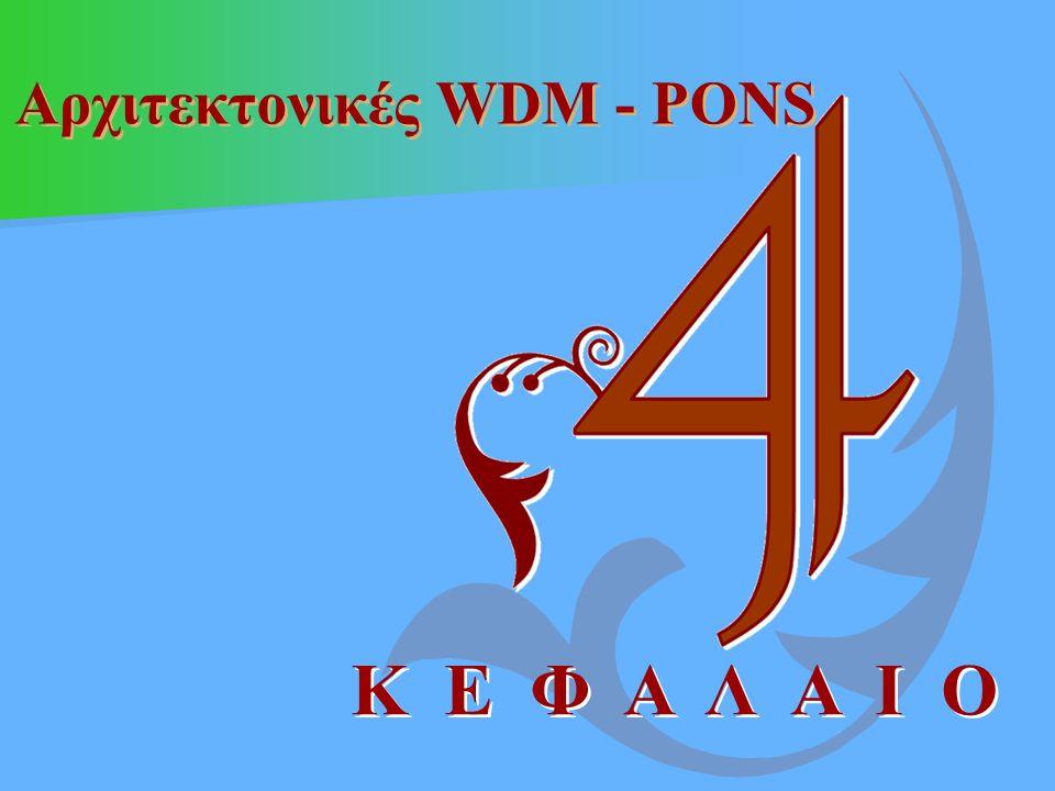 Αρχιτεκτονικές WDM - PONS Κ Ε Φ Α Λ Α Ι Ο