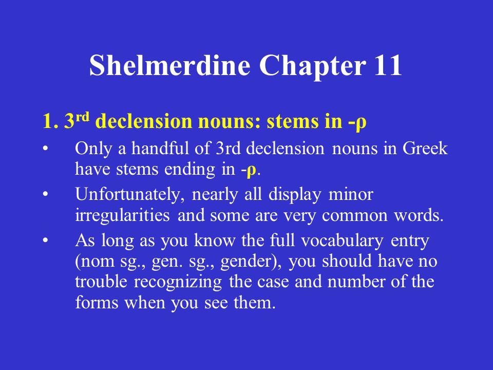 Shelmerdine Chapter 11 for tomorrow (Tuesday, November 8, 2005): Quiz: Chapter 10 Vocabulary.