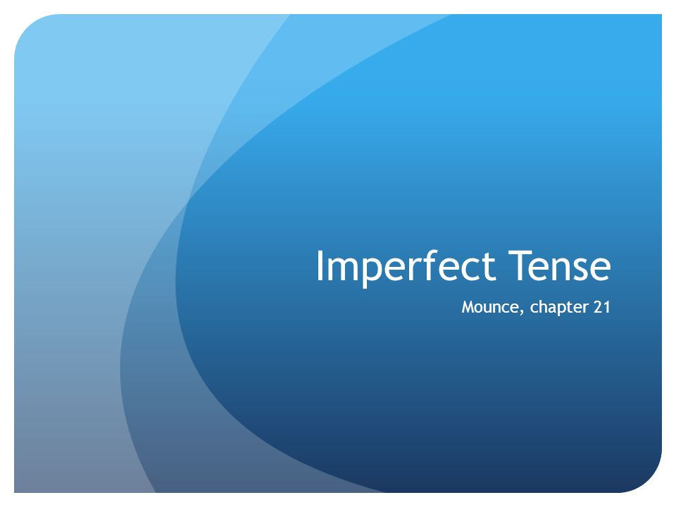 Imperfect Tense In Greek Expresses Continuous Action in the Past.