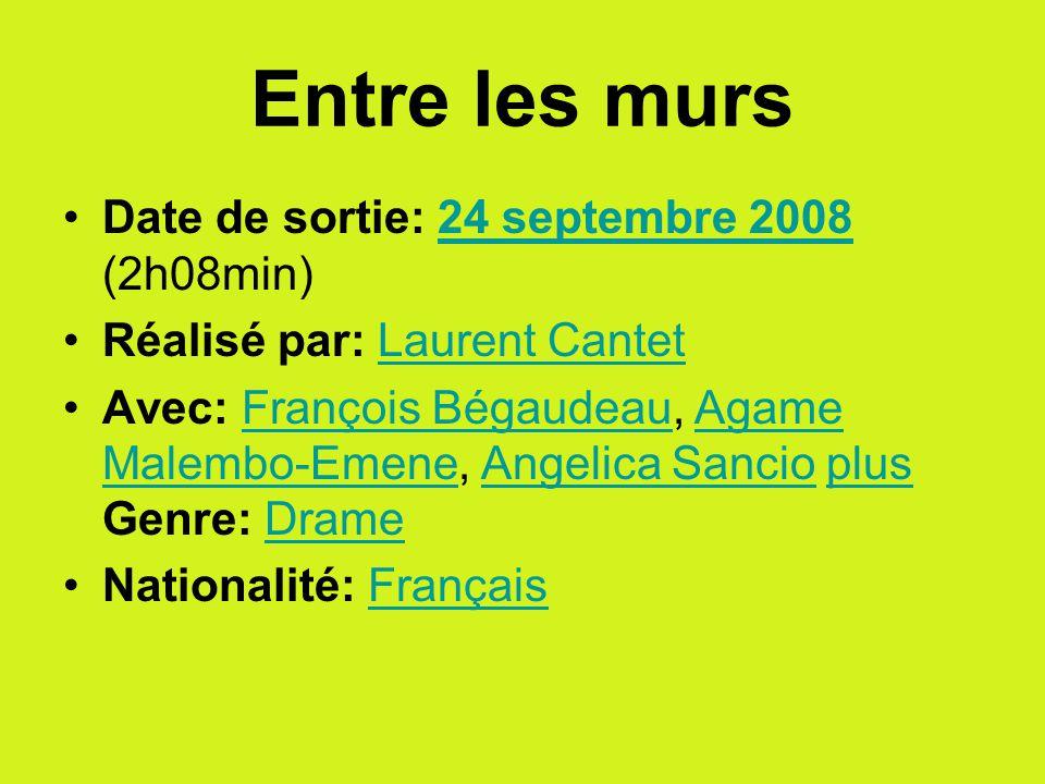 François est un jeune professeur de français dans un collège difficile.