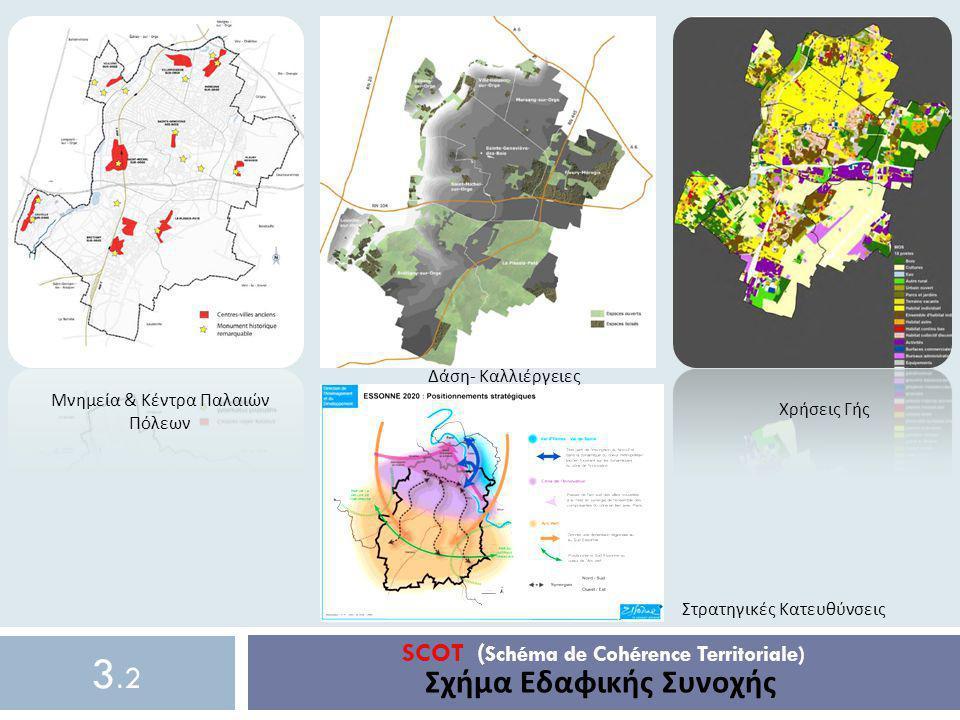 SCOT ( Schéma de Cohérence Territoriale) Σχήμα Εδαφικής Συνοχής 3.23.2 Μνημεία & Κέντρα Παλαιών Πόλεων Χρήσεις Γής Δάση- Καλλιέργειες Στρατηγικές Κατε