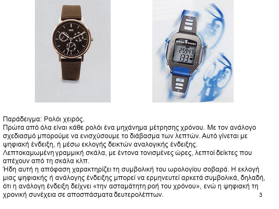 3 Παράδειγμα: Ρολόι χειρός. Πρώτα από όλα είναι κάθε ρολόι ένα μηχάνημα μέτρησης χρόνου.