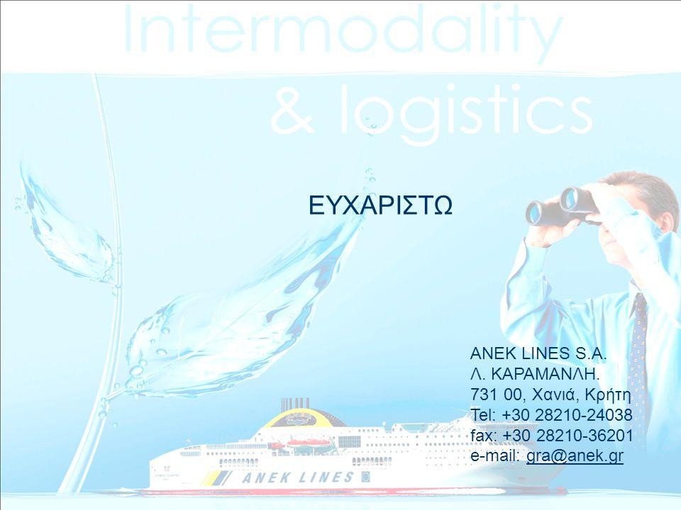 ΕΥΧΑΡΙΣΤΩ ΑΝΕΚ LINES S.A. Λ. ΚΑΡΑΜΑΝΛΗ. 731 00, Χανιά, Κρήτη Tel: +30 28210-24038 fax: +30 28210-36201 e-mail: gra@anek.grgra@anek.gr