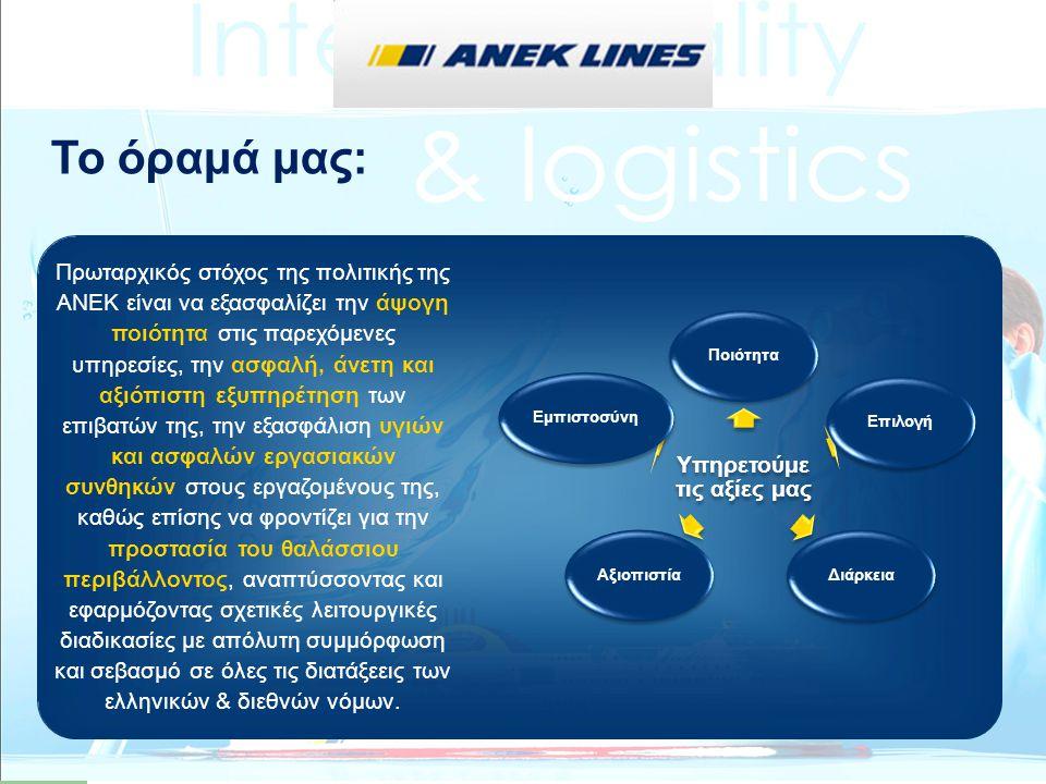 Τα αναμενόμενα οφέλη από το έργο είναι: Η περαιτέρω βελτίωση των υπηρεσιών από τους εμπλεκόμενους φορείς της εφοδιαστικής αλυσίδας στην Αδριατική θάλασσα.