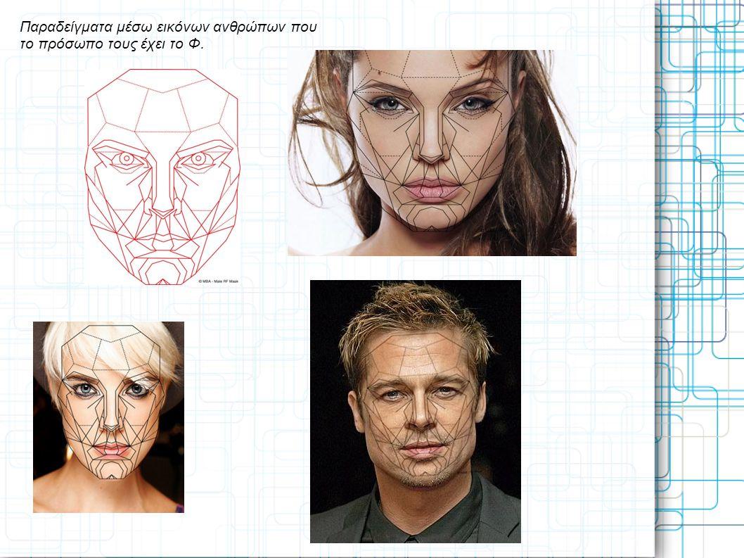 Παραδείγματα μέσω εικόνων ανθρώπων που το πρόσωπο τους έχει το Φ.