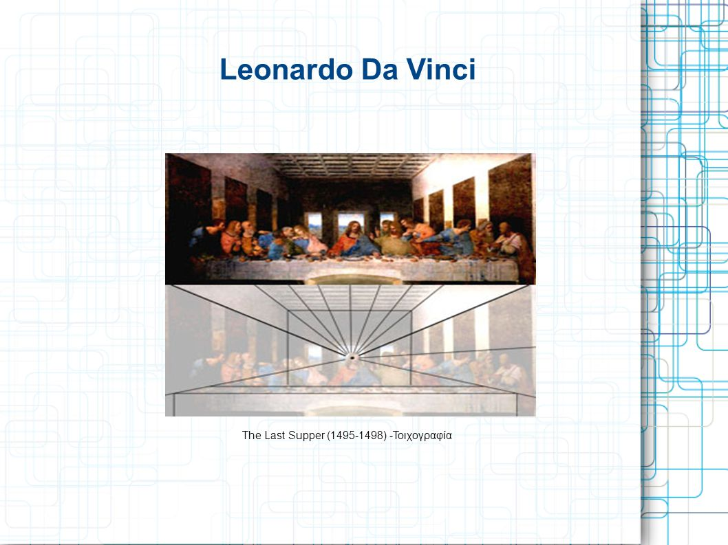 Leonardo Da Vinci The Last Supper (1495-1498) -Τοιχογραφία
