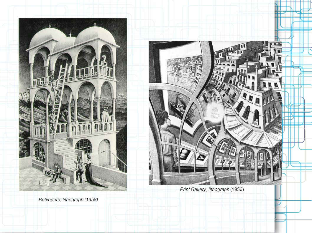 Belvedere, lithograph (1958) Print Gallery, lithograph (1956)