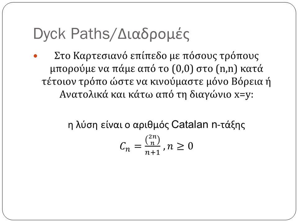 Dyck Paths/ Διαδρομές