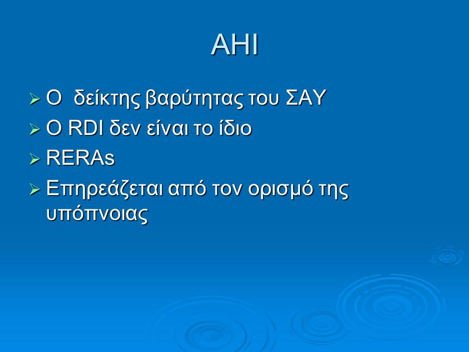 Ruehland et al, The new AASM criteria for scoring hypopneas. Impact on the AHI Sleep 2009, 32(2).