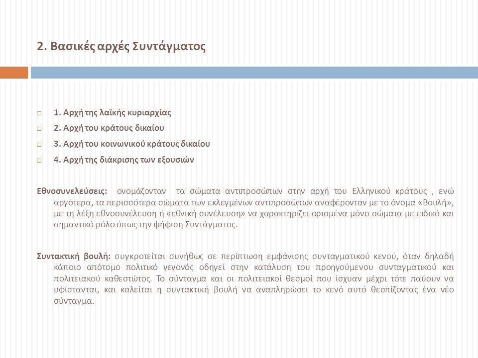 ΤΑ ΣΥΝΤΑΓΜΑΤΑ ΤΗΣ ΕΛΛΑΔΑΣ  Το Ελληνικό κράτος έχει αποκτήσει αρκετά συντάγματα από την αρχή της ύπαρξής του, το 1821, μέχρι σήμερα : Ελληνικό κράτος συντάγματα  Προσωρινόν Πολίτευμα της Ελλάδος, 1 Ιανουαρίου 1822, ψηφίστηκε από την Α Εθνοσυνέλευση της Επιδαύρου Προσωρινόν Πολίτευμα της Ελλάδος Α Εθνοσυνέλευση της Επιδαύρου  Νόμος της Επιδαύρου, 1823, αναθεώρηση από την Β Εθνοσυνέλευση του Άστρους Νόμος της Επιδαύρου Β Εθνοσυνέλευση του Άστρους  Πολιτικόν Σύνταγμα της Ελλάδος 1827, από την Γ Εθνοσυνέλευση της Τροιζήνας ( ανεστάλη το 1829 από την Δ Εθνοσυνέλευση του Άργους ) Πολιτικόν Σύνταγμα της Ελλάδος 1827 Γ Εθνοσυνέλευση της Τροιζήνας Δ Εθνοσυνέλευση του Άργους  Πολιτικόν Σύνταγμα της Ελλάδος 1832, το αποκαλούμενο « Ηγεμονικόν Σύνταγμα », από την Ε Εθνοσυνέλευση Ναυπλίου, το οποίο όμως δεν εφαρμόστηκε και ο Όθων βασίλευσε χωρίς σύνταγμα μέχρι το Μάρτιο του 1844.