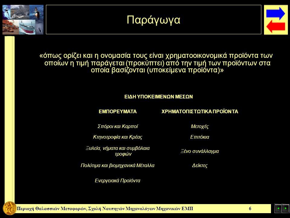 Περιοχή Θαλασσιών Μεταφορών, Σχολή Ναυπηγών Μηχανολόγων Μηχανικών ΕΜΠ 7 Σύντομη Ιστορική Αναδρομή Θαλής (330πΧ): Δικαίωμα στη χρήση Ελαιοτριβείων Ολλανδία (1636): Συμφωνίες για μελλοντική πώληση διαφόρων ειδών τουλίπας Η Ελληνική Αγορά Παραγώγων Δημιουργήθηκε το Χρηματιστήριο Παραγώγων Αθηνών Πρώτο Συμβόλαιο στις 27 Αυγούστου 1999 17 Ιουλίου 2002 Συγχώνευση – Απορρόφηση Χ.Π.Α.