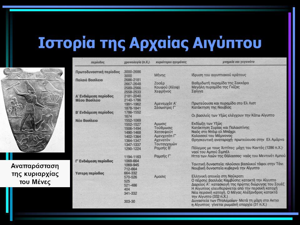 Ιστορία της Αρχαίας Αιγύπτου Αναπαράσταση της κυριαρχίας του Μένες