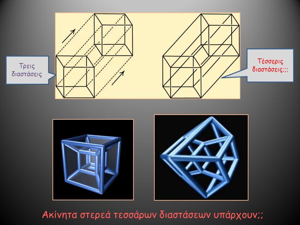 Τρεις διαστάσεις Τέσσερις διαστάσεις;;; Ακίνητα στερεά τεσσάρων διαστάσεων υπάρχουν;;