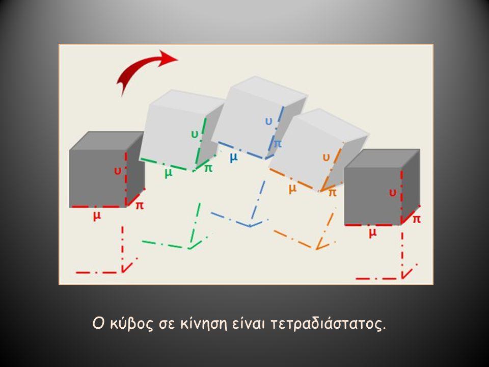 Ο κύβος σε κίνηση είναι τετραδιάστατος.
