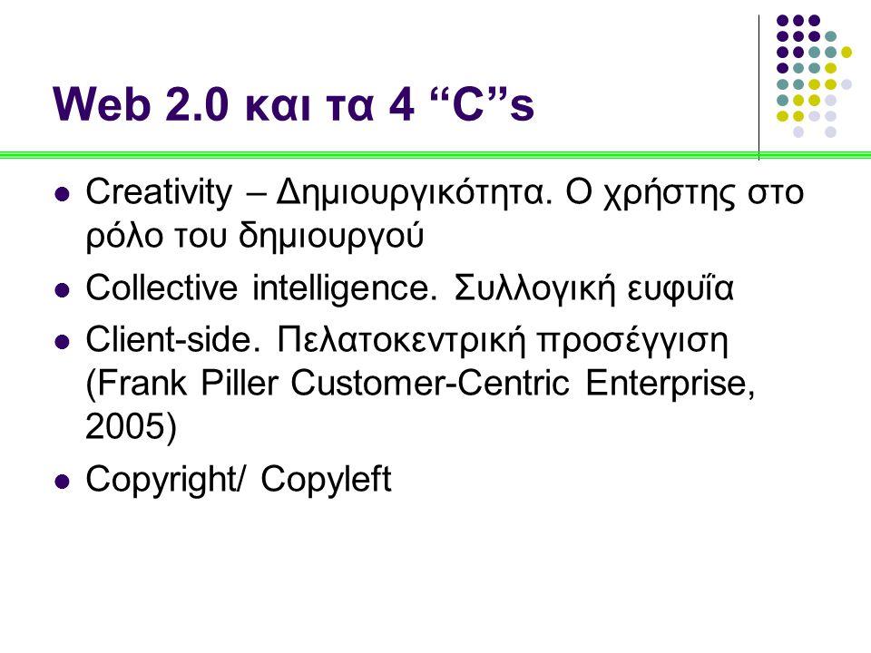 Web 2.0 και τα 4 C s Creativity – Δημιουργικότητα.