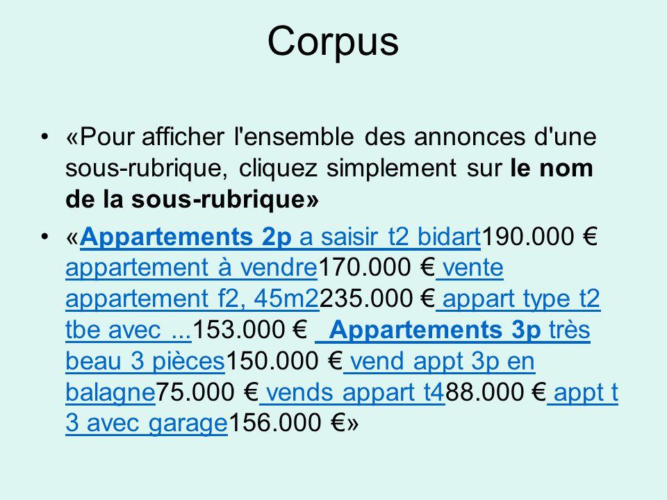 «Pour afficher l ensemble des annonces d une sous-rubrique, cliquez simplement sur le nom de la sous-rubrique» «Appartements 2p a saisir t2 bidart190.000 € appartement à vendre170.000 € vente appartement f2, 45m2235.000 € appart type t2 tbe avec...153.000 € Appartements 3p très beau 3 pièces150.000 € vend appt 3p en balagne75.000 € vends appart t488.000 € appt t 3 avec garage156.000 €»Appartements 2p a saisir t2 bidart appartement à vendre vente appartement f2, 45m2 appart type t2 tbe avec...