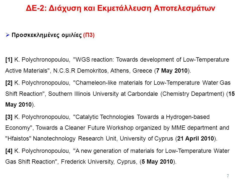  Προσκεκλημένες ομιλίες (Π3) [1] K. Polychronopoulou,