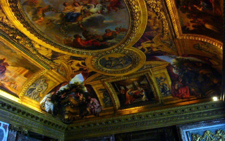Plafond du salon d' Hercule du Château de Versailles Το ταβάνι του σαλονιού Ηρακλής του Παλατιού των Βερσαλλιών