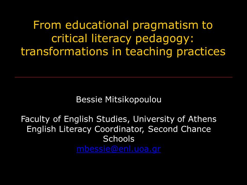 What is educational pragmatism.