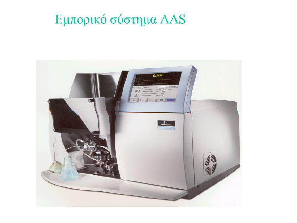 πλεονεκτήματα 1.Μικρή κατανάλωση δείγματος 0,5 έως 2 ml/min αντί 10 έως 30 ml/min στους καυστήρες προανάμιξης 2.Όχι κίνδυνος οπισθοανάφλεξης 3.