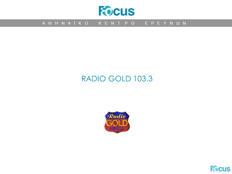 Α Θ Η Ν Α Ϊ Κ Ο Κ Ε Ν Τ Ρ Ο Ε Ρ Ε Υ Ν Ω Ν RADIO GOLD 103.3