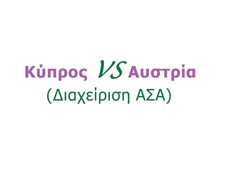 «Ινστιτούτο Περιβάλλοντος και Αειφόρου Ανάπτυξης» 20/02/2014, Λευκωσία, Κύπρος 22 Κύπρος VS Αυστρία (Διαχείριση ΑΣΑ)