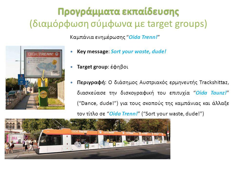 """«Ινστιτούτο Περιβάλλοντος και Αειφόρου Ανάπτυξης» 20/02/2014, Λευκωσία, Κύπρος 31 Καμπάνια ενημέρωσης """"Oida Trenn!"""" Key message: Sort your waste, dude"""